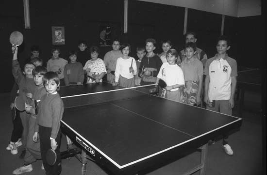 Les pratiquants de tennis de table