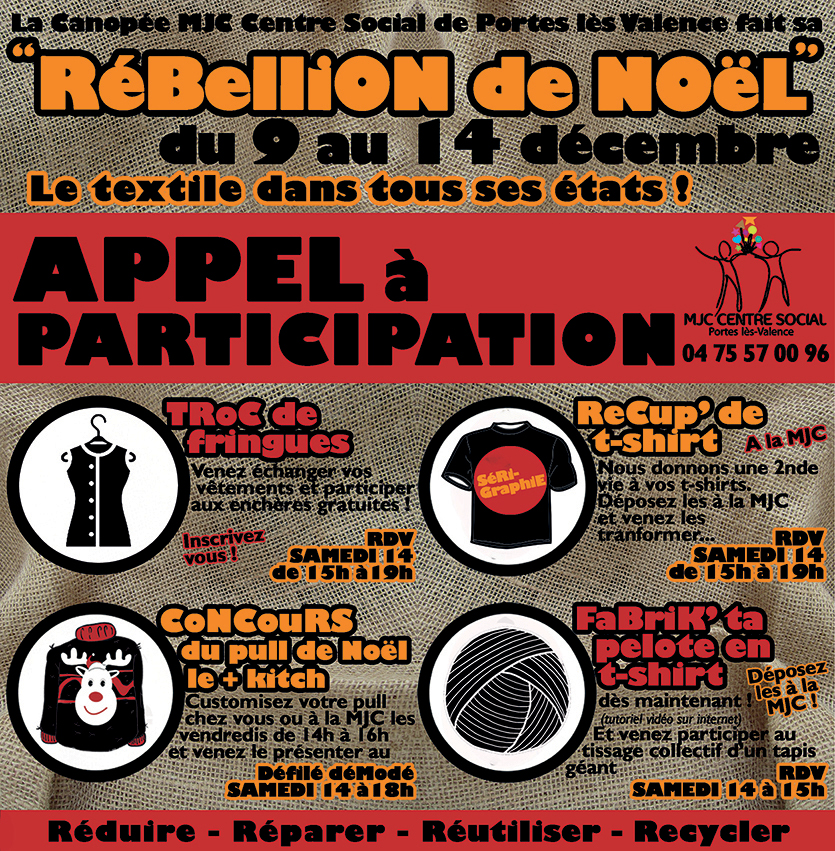 Rébellion de Noël : appel à participation