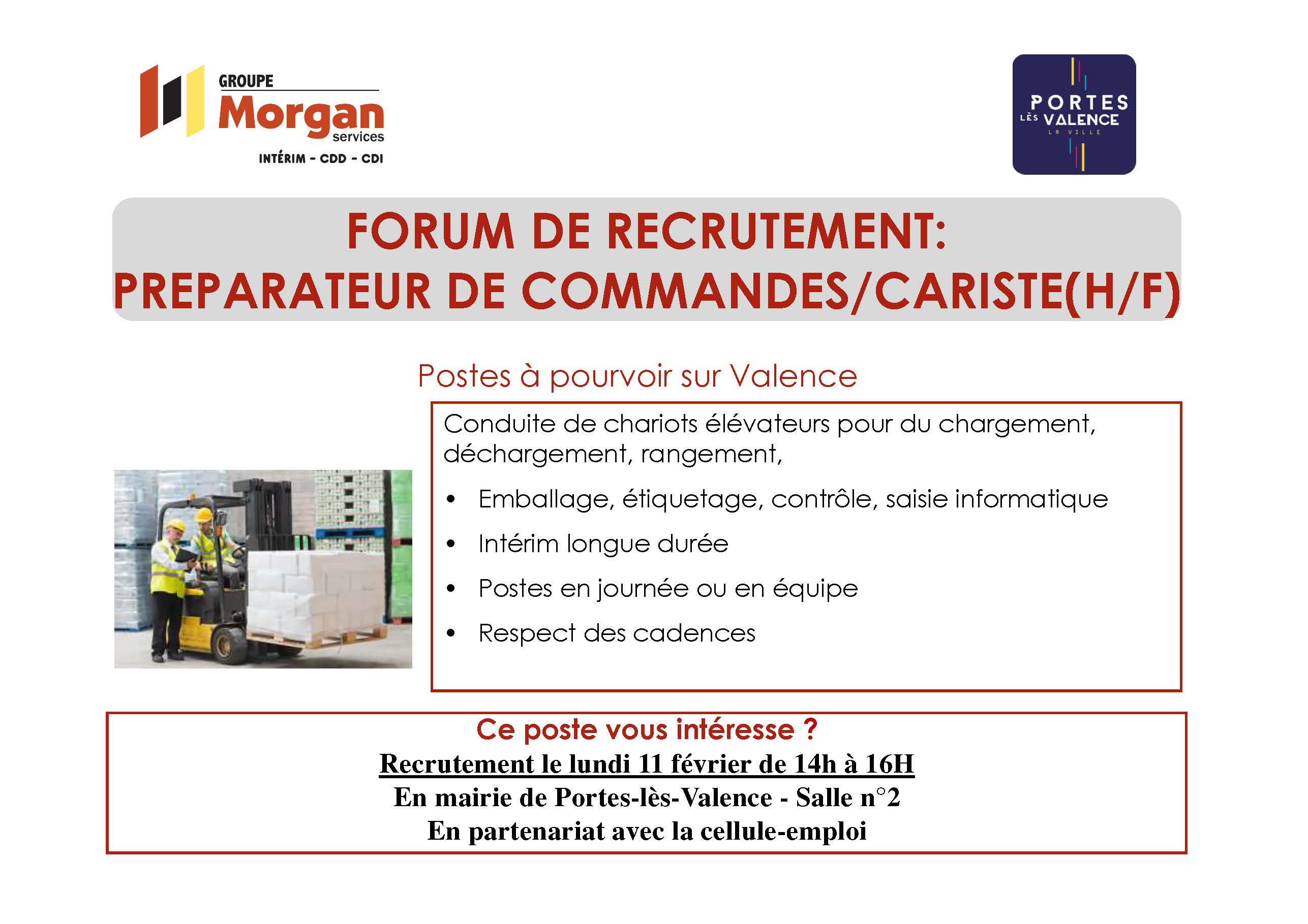 Forum recrutement Morgan Interim