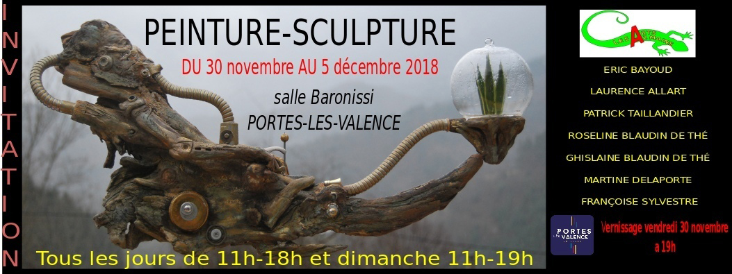 Invitation exposition d'art