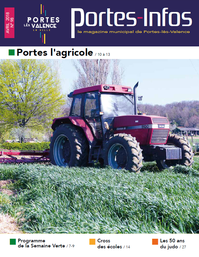 Couverture Portes-infos N° 98 - avril 2018
