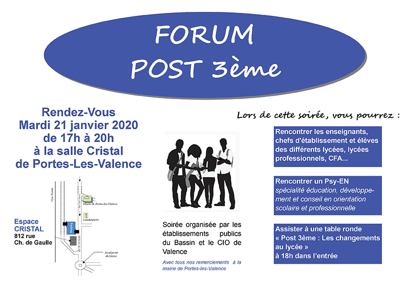 Afiche forum post 3ème