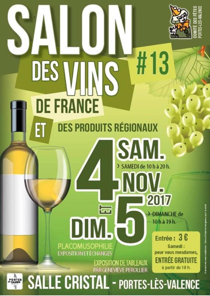 Agenda de portes l s valence 12 me salon des vins le 5 for Salon des vins de france